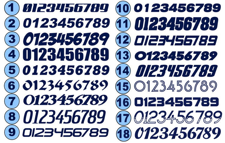 1 4 Scale Number Sets Truline Graphics Rc Racing