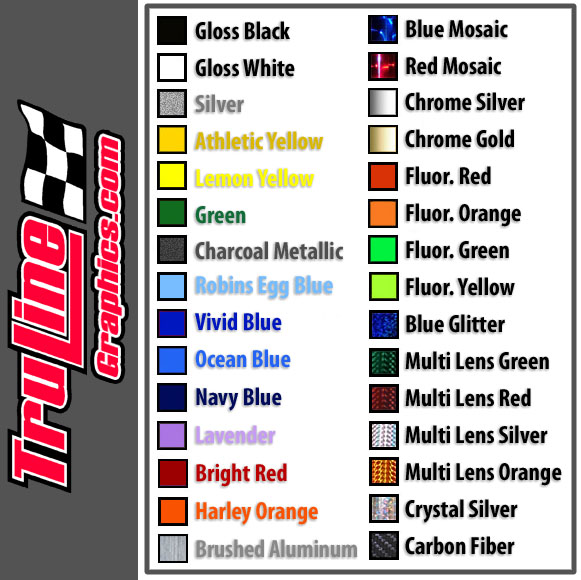 Scale RC Car Number Sets Truline Graphics RC Racing - Custom vinyl decals for rc cars