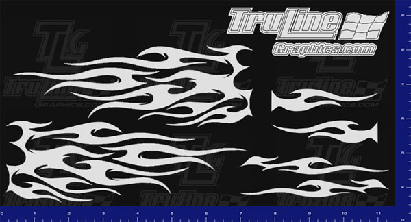 Mask Kit Flames 8 Truline Graphics Rc Racing Decals