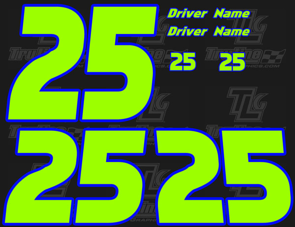 RACING NUMBER SETS