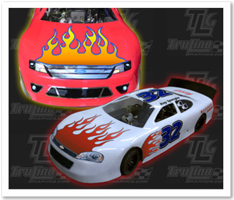 RC FLAME DECAL KITS