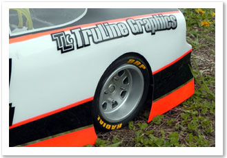 1/4 scale tire stickers hoosier goodyear brp