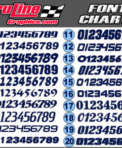 truline racing number fonts
