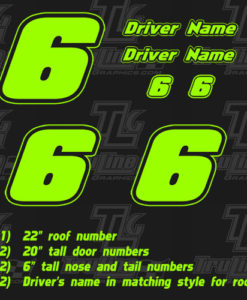 racing numbers single color