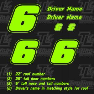racing numbers single color