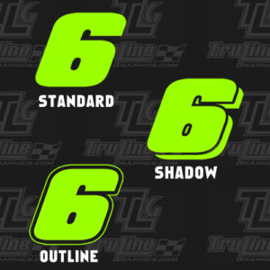 racing number styles 1 color