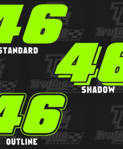 1 color vinyl racing numbers