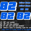 vinyl racecar number decals