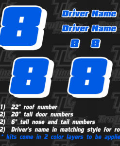 racing numbers 2 color