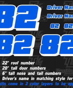 vinyl racecar number decals