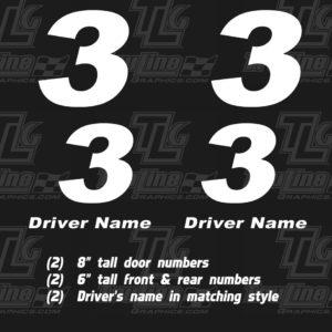 go cart door numbers