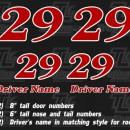 Go Kart Numbers Decals Truline Graphics