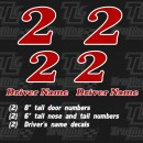 gokart racing numbers