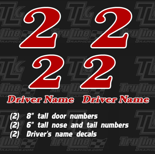 gokart racing numbers