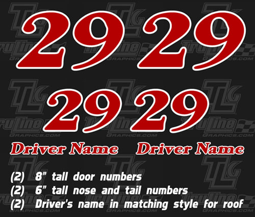 Go Kart Numbers Decals Truline Graphics