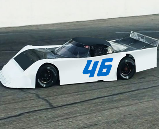 Sport Font Race Number Decals Select Size /& Color