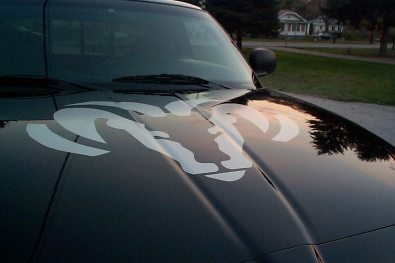 dodge ram hood decal