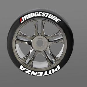 Bridgestone Potenza Tire Stickers RC