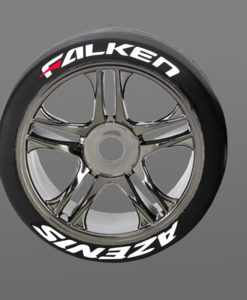 Falken Tire Stickers 8th Scale RC