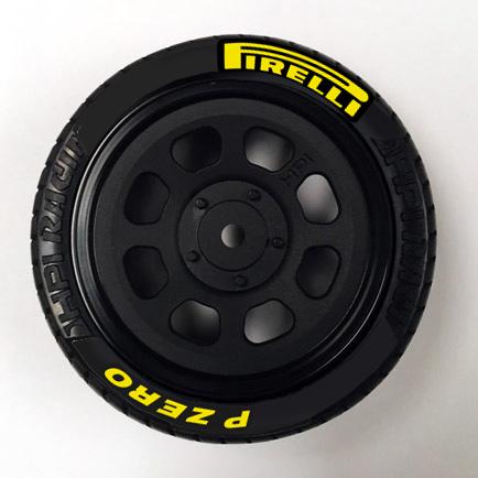 Pirelli Tire Stickers 10th Scale Yellow