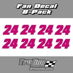 RACING FAN CAR DECALS