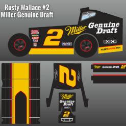 Rusty Wallace Miller Genuine Draft Mudboss Wrap