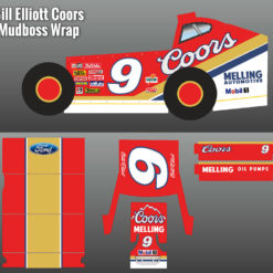 Bill Elliott Coors Mudboss Wrap