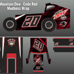 mountain dew code red mudboss wrap