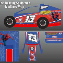 Spiderman Mudboss Car Wrap