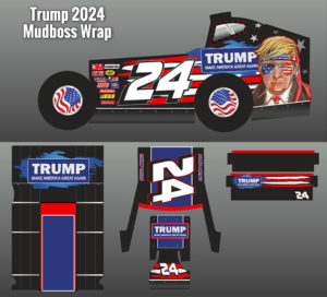 Donald J Trump 2024 Mudboss Wrap