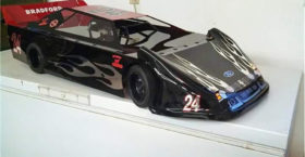 1/4 scale late model flames