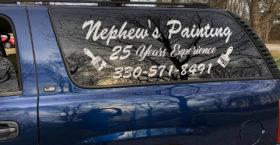Company Truck Window Lettering