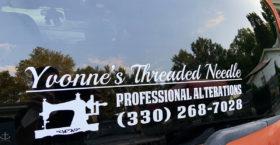 Business Car Window Sticker
