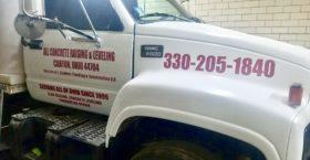Concrete Truck Door Lettering